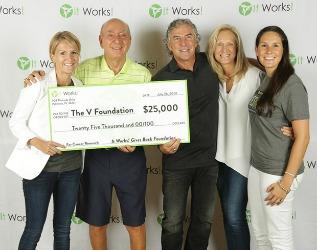 It Works! Global gives $25,000 to Vitale for V Foundation