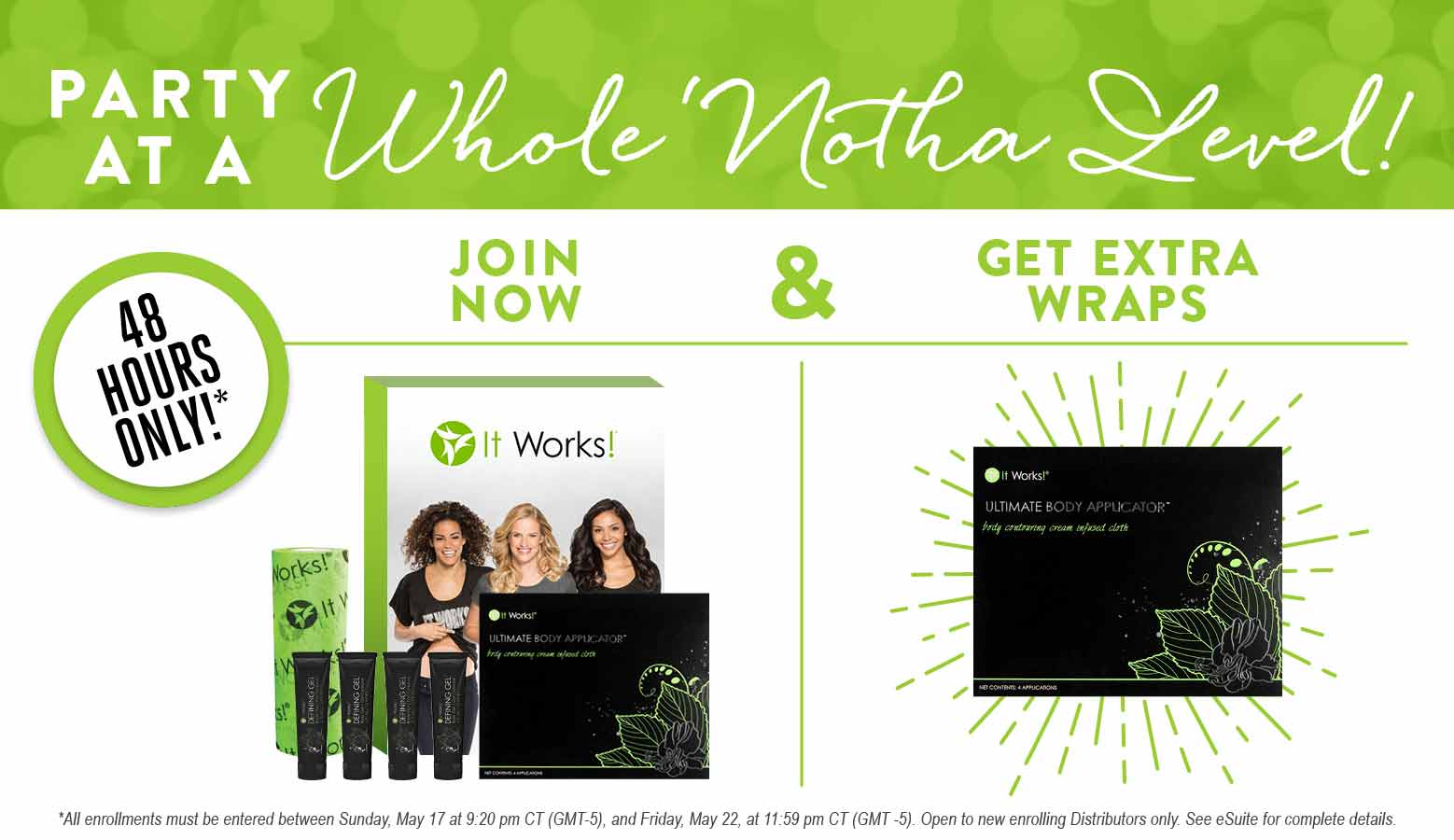 Have you tried that crazy wrap thing it works